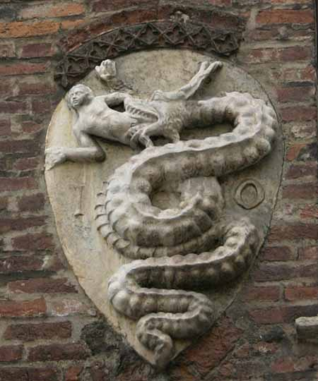 Coat of Arms, House of Visconti, Milan, Italy