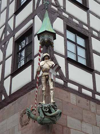 Georg und der Drache, Dürerplatz, Nürnberg, Germany