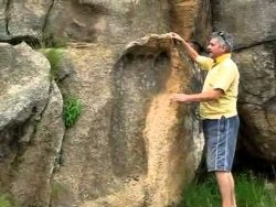 Michael Tellinger and giant footprint